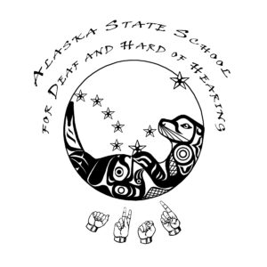 Stylized image of Big Dipper and animals, with the name of school encircling the image.
