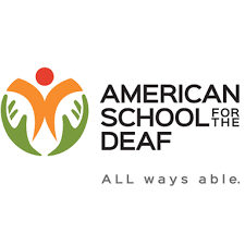 Logo of American School for the Deaf. Motto: All ways able.
