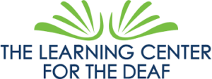 Logo of Learning Center for the Deaf: Stylized lines that look like hands.
